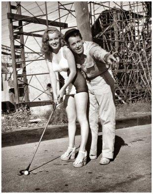 Marilyn Monroe che si diletta nel golf