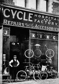 Negozio di biciclette, 1910