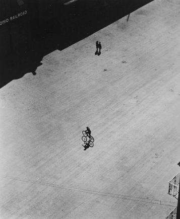 Ralph Steiner, Boy On Bike Below Brooklyn Bridge, 1921-22