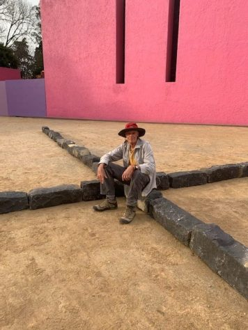 Richard Long at Cuadra San Cristobal. Copyright the artist. Photograph by Joanna Thornberry, Courtesy Lisson Gallery