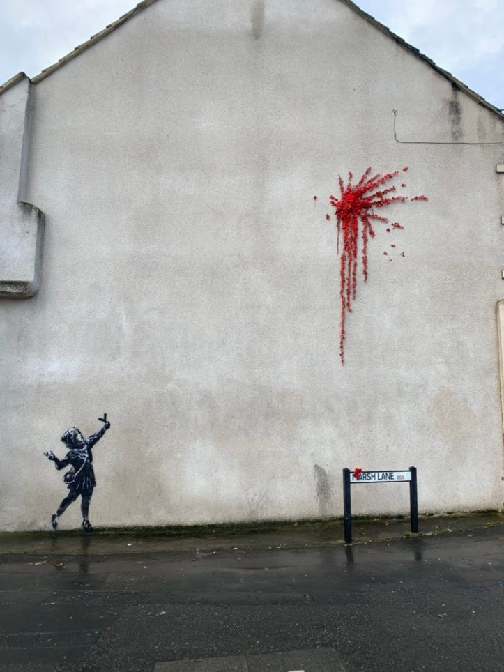 Valentine's Day Mural by Banksy @ Bristol, UK