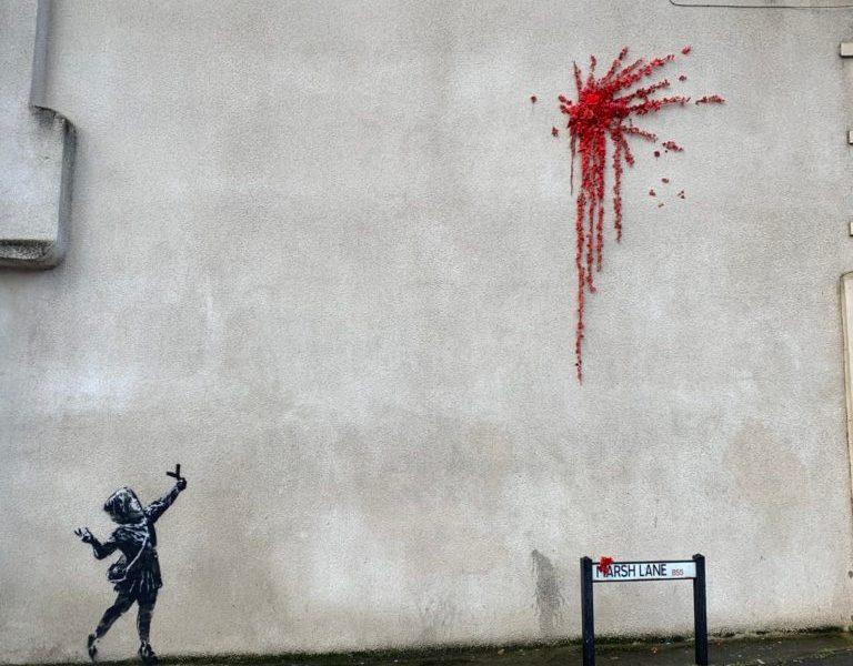 Valentine's Day Mural by Banksy @ Bristol, UK