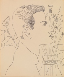 Andy Warhol (1928 – 1987), Boy with Flowers 1955-7, ARTIST ROOMS Tate and National Galleries of Scotland, © 2020 The Andy Warhol Foundation for the Visual Arts, Inc. / Licensed by DACS, London