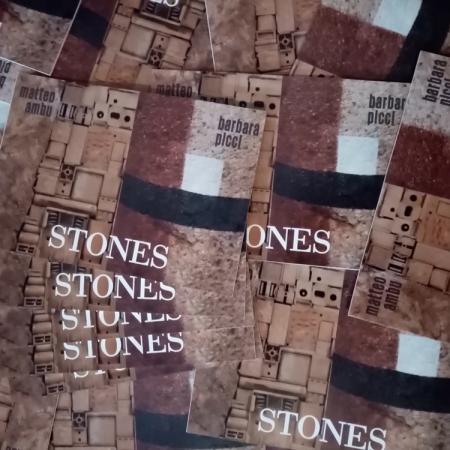 """Catalogo mostra """"Stones"""", bipersonale di Matteo Ambu e Barbara Picci"""