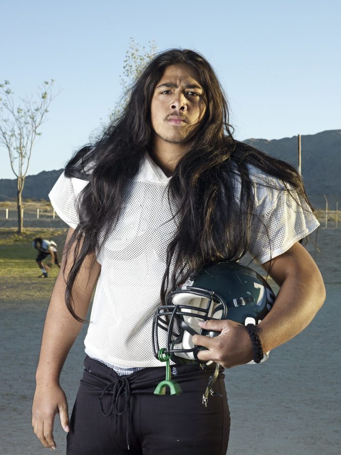 """Catherine Opie, Rusty, 2008. From the series High School Football, 2007–2009. © Catherine Opie, Courtesy Regen Projects, Los Angeles and Thomas Dane Gallery, London. Exhibition: """"Masculinities. Liberation through Photography"""" at Baribican Centre, London, 2020, courtesy Barbican Centre"""