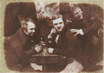La prima fotografia conosciuta di uomini che bevono birra. Edinburgh Ale, 1844