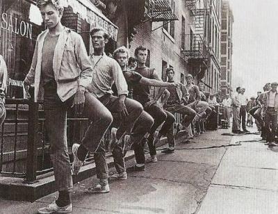 Lezione di danza classica sul set di West Side Story nel 1961