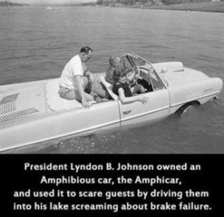 Lyndon B. Johnson era un burlone