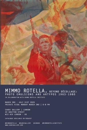 Mimmo Rotella @ Cardi Gallery, Londra