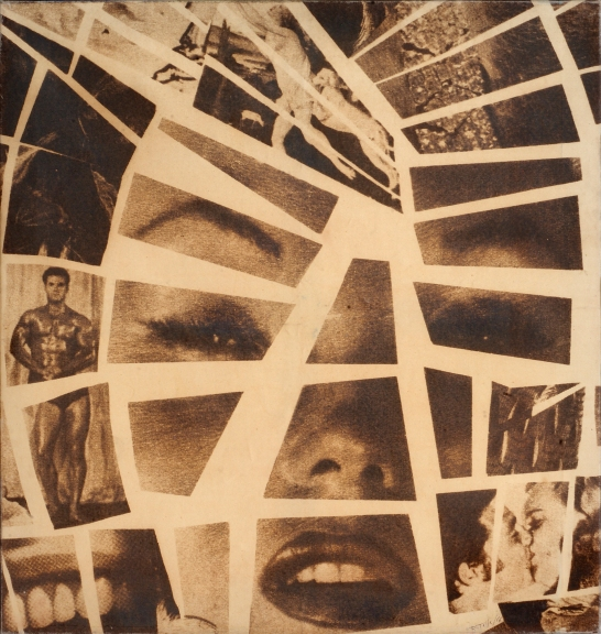 Mimmo Rotella, Mythologies, 1966, Photo emulsion on canvas 95 x 91 cm, courtesy Mimmo Rotella Institute e Cardi Gallery