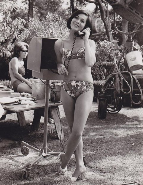 Nancy Kwan in bikini