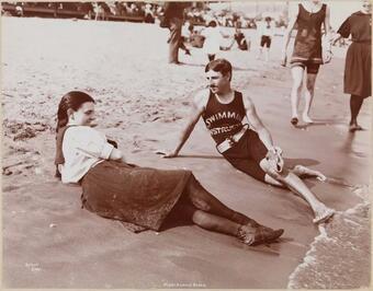Nikola Tesla come istruttore di nuoto a New York, 1900