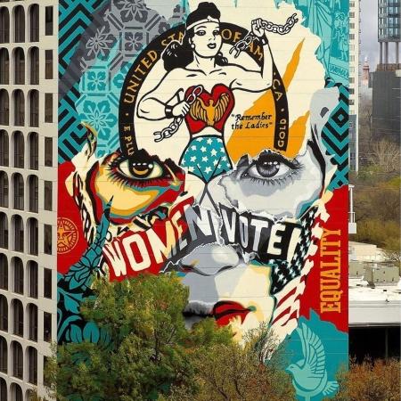 Sandra Chevrier + Obey Giant @ Austin, USA