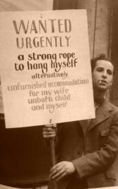 Un uomo durante la Grande Depressione