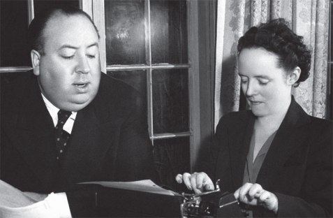 Alfred Hitchcock con sua moglie Alma Reville