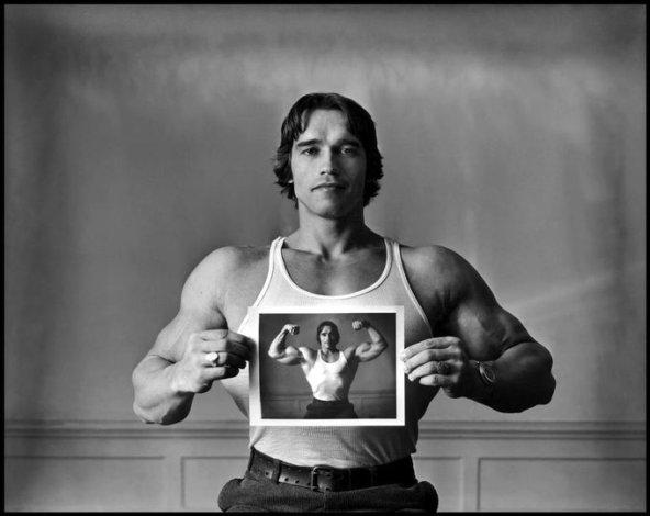 Arnold Schwarzenegger, 1977 by Elliott Erwitt