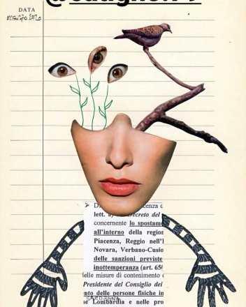 Autocertificazioni Illustrate - Diario di quarantena, Tecnica mista, Laura Saddi @catigno.79