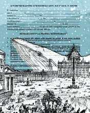 Autocertificazioni Illustrate - La balena che voleva incontrare il papa, Tecnica mista su stampa di Piranesi_@federico_ruxo