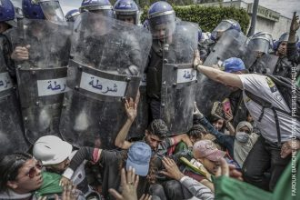 Spot News – Singles - Clash with the Police During an AntiGovernment Demonstration Farouk Batiche, Algeria,