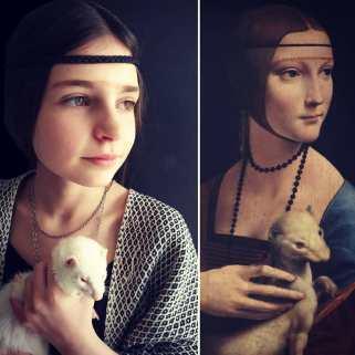 Dama con l'ermellino Di Leonardo Da Vinci by @dans_les_yeux_de_soline
