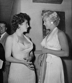 Gina Lollobrigida e Marilyn Monroe