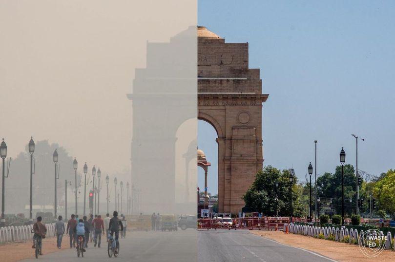 Molti residenti di Delhi vedono i cieli blu per la prima volta in anni dopo solo una settimana di blocco covid-19! Solo pochi mesi fa l'inquinamento atmosferico di Delhi è stato dichiarato un'emergenza per la salute pubblica, ma ora il blocco a livello nazionale dell'India sta effettivamente dando all'atmosfera la possibilità di guarire. I livelli di particolato nocivo nell'aria sono precipitati del 71% nell'arco di una settimana! Nello stesso periodo, anche i livelli di biossido di azoto causati dalle emissioni dei veicoli sono diminuiti del 71%. Per continuare, i paesi dovranno investire in energia pulita e abbandonare il carbone e l'energia non rinnovabile ad alta intensità di combustibili fossili.