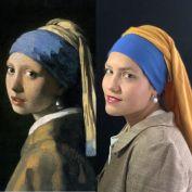 La ragazza con l'orecchino di perla di Johannes Vermeer by Lisa Mansour @lisamansourart