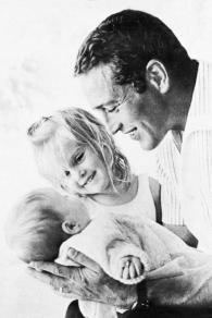 Paul Newman con le sue figlie
