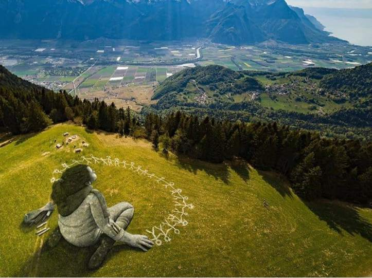 Saype @ Leysin, Switzerland