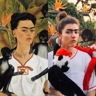 Self Portrait with Monkeys di Frida Kahlo by Lisa Mansour @lisamansourart