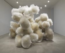 "Tara Donovan, Untitled, 2014, acrylic and adhesive, 10' 1/2"" x 14' 2"" x 12' 10-3/4"" (306.1 cm x 431.8 cm x 393.1 cm) © Tara Donovan"