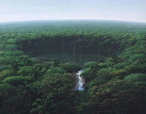 """""""Llegada del caminante a la laguna"""" (1999) by Tomás Sánchez"""