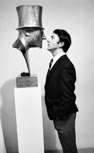 Dustin Hoffman al MoMA, NYC, 1968. Fotografia di Robert Goldberg