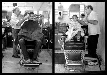 Fedeltà del cliente. Stesso ragazzo, stesso barbiere, stessa sedia
