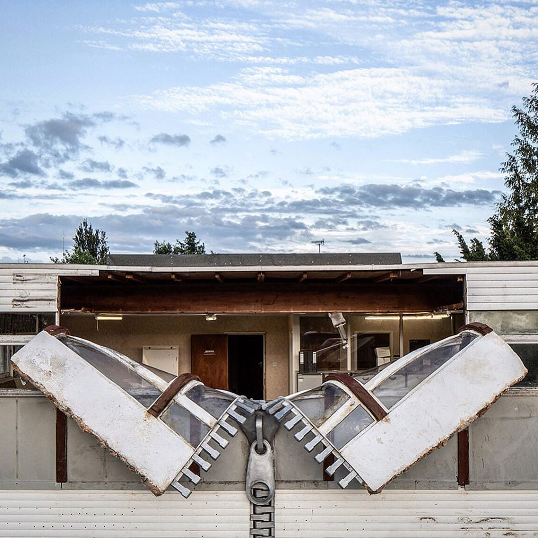 """""""Out of office"""" by Alex Chinneck"""