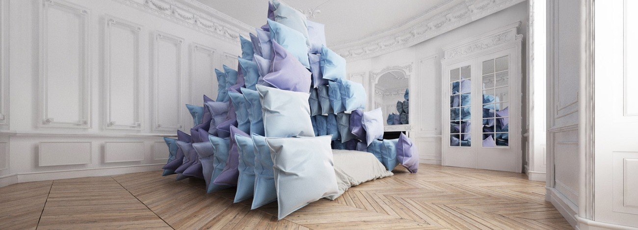 Pillow Pyramid by Cyril Lancelin