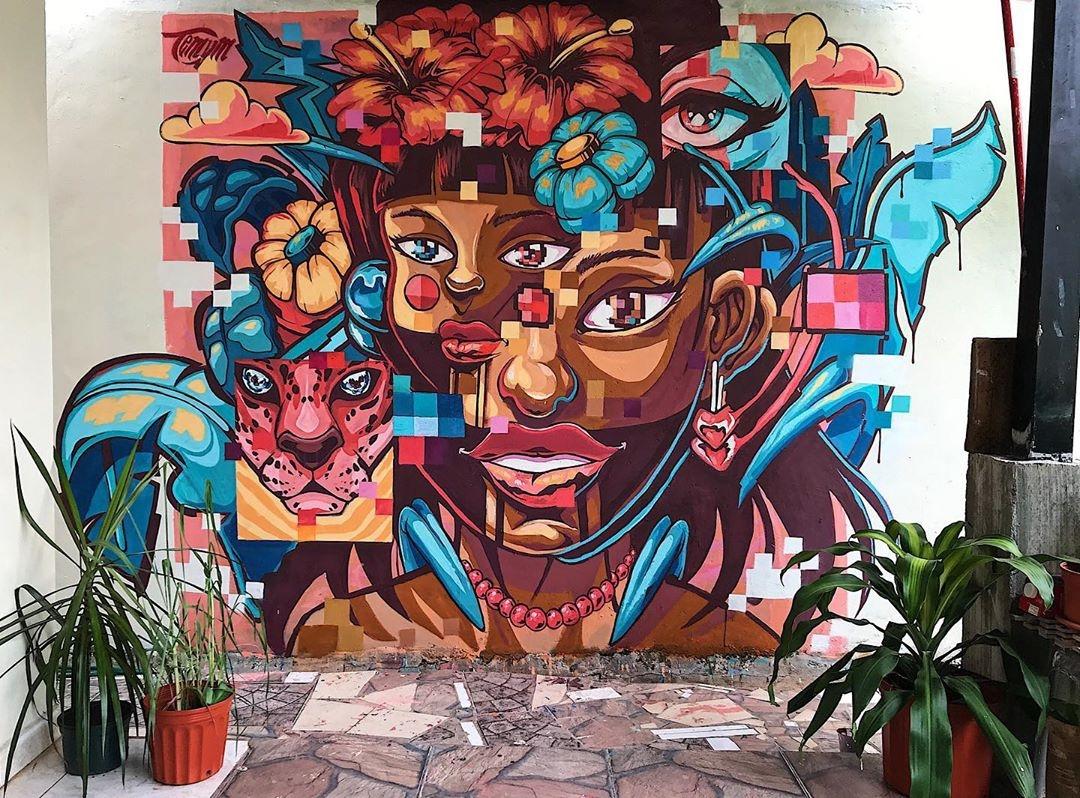 Streetart – Temym @ Panama City, Panama