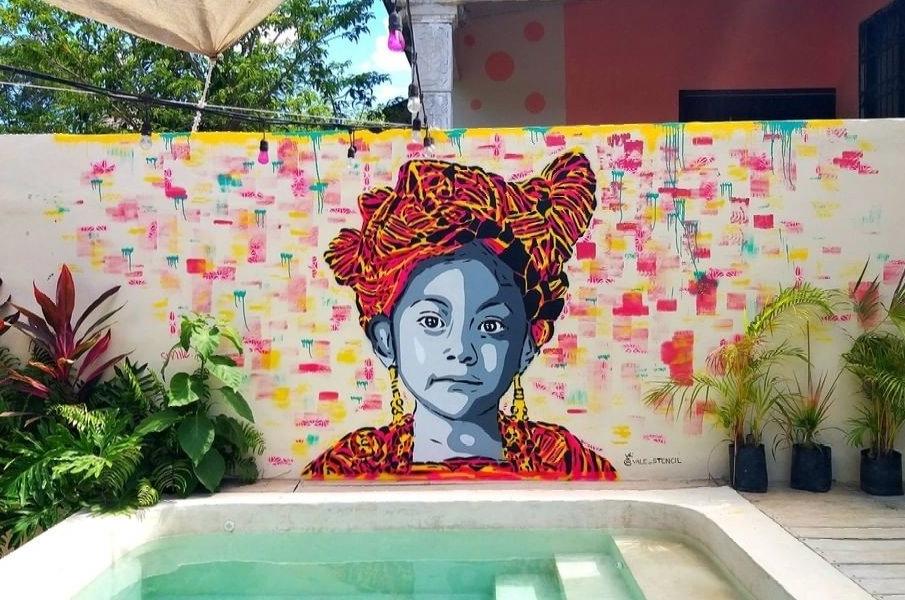 Valé Stencil @ Bacalar, Mexico