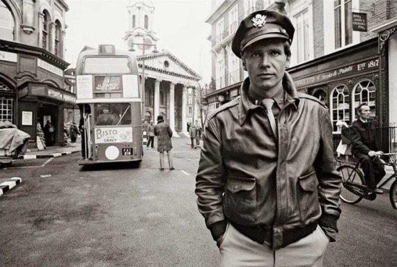 Harrison Ford sul set di Hanover Street, 1979