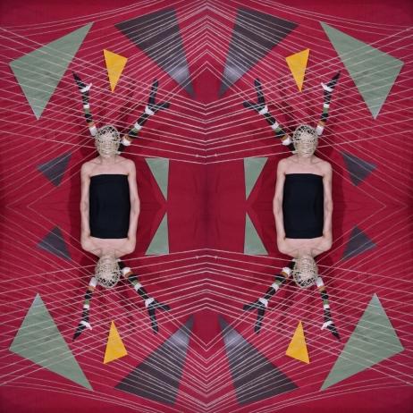 Installazione di corde e geometrie. Fotografia di Barbara Picci e Matteo Ambu 3 (Photocollage)