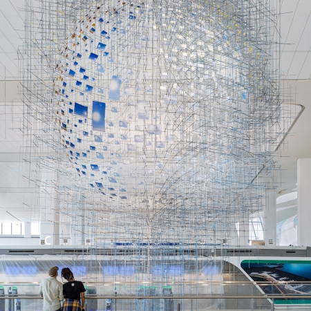 Shorter than the Day (2020), powder-coated aluminum and steel, 48 x 30 x 30 feet. All images © Sarah Sze by Nicholas Knight