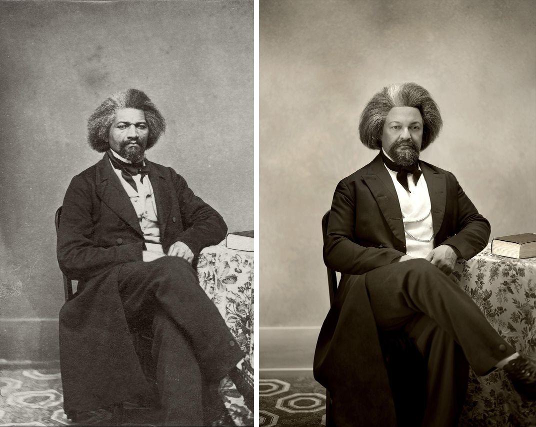 Frederick Douglass. Kenneth Morris, Douglass's third-great grandson. Photography by Drew Gardner