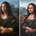 Irina Guicciardini Strozzi, the 15th great granddaughter of Lisa del Giocondo. The Mona Lisa by Leonardo DaVinci. Photography by Drew Gardner