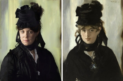 Lucie Rouart, great granddaughter of Morisot. Berthe Morisot, by Edouard Manet, 1872. Photography by Drew Gardner