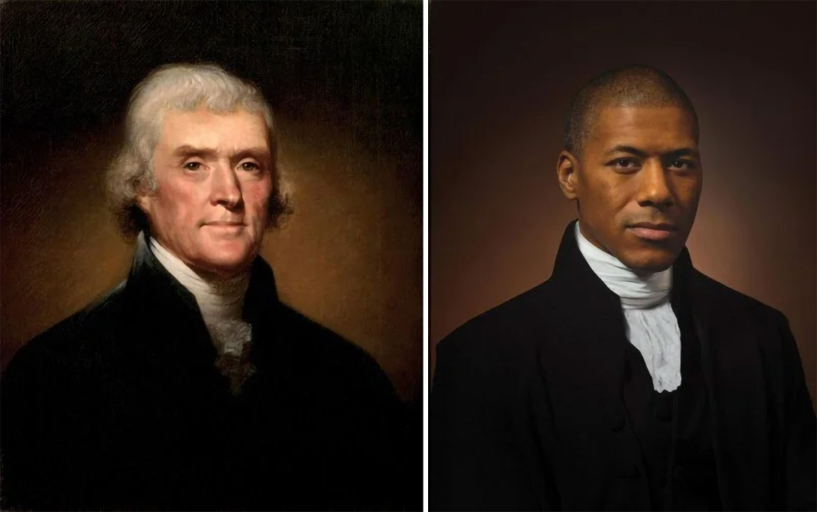 Thomas Jefferson, by Rembrandt Peale, 1800. Shannon LaNier, Jefferson's sixth-great grandson. Photography by Drew Gardner
