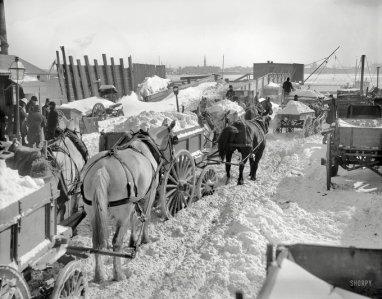 È così che New York è stata ripulita dopo la grande bufera di neve del 1899
