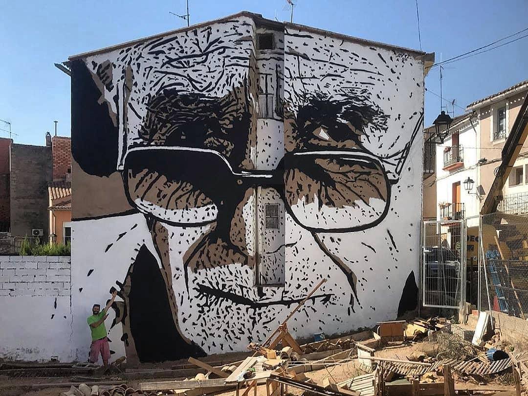 Streetart – Franz Campoy @ Geldo, Spain