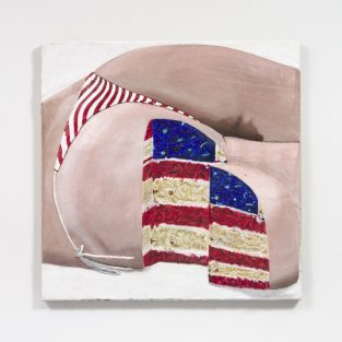 Gina Beavers, American Flag Sponge Butt Cake (2020)