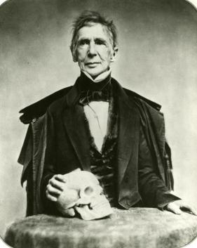 Il chirurgo John Collins Warren, 1850. Egli è divenuto famoso per aver praticato il primo intervento in anestesia.