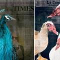 A sinistra: RIP Karl Lagerfeld   A destra: Le Canard © Lisa Törner